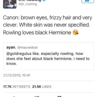 On JK Rowling's thing about after the fact diversity