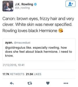 JKR Hermione Tweet