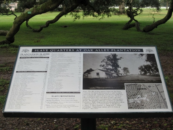 List of Enslaved Black People at Oak Alley Plantation