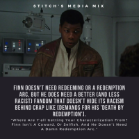 [Image Post] Finn Needs A New, Less Racist Fandom