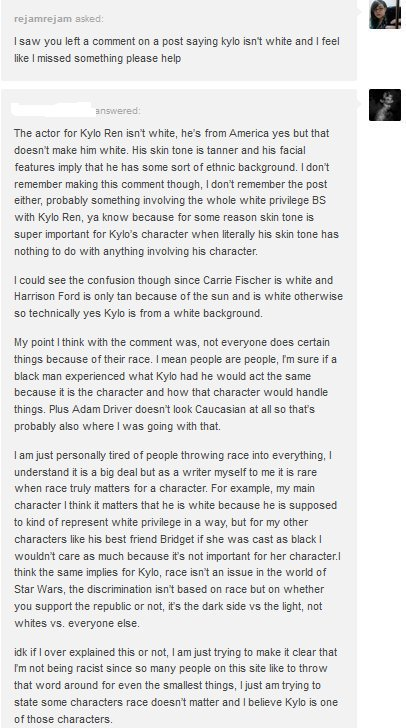 What Fandom Racism Looks Like – When White Characters